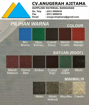 Pilihan Warna Genteng Metal Prima Roof