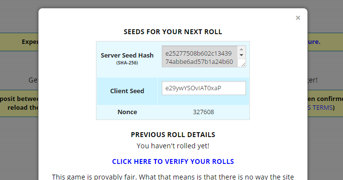 Client Seed Generator