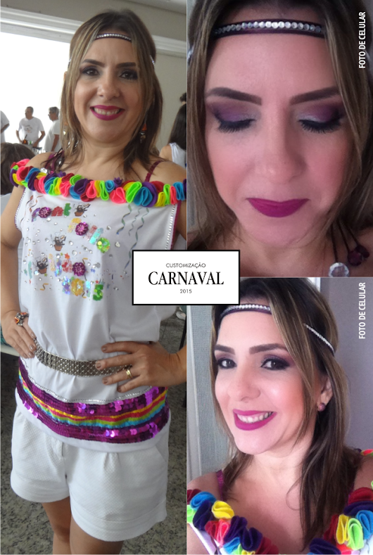 CARNAVAL - CUSTOMIZANDO A CAMISETA