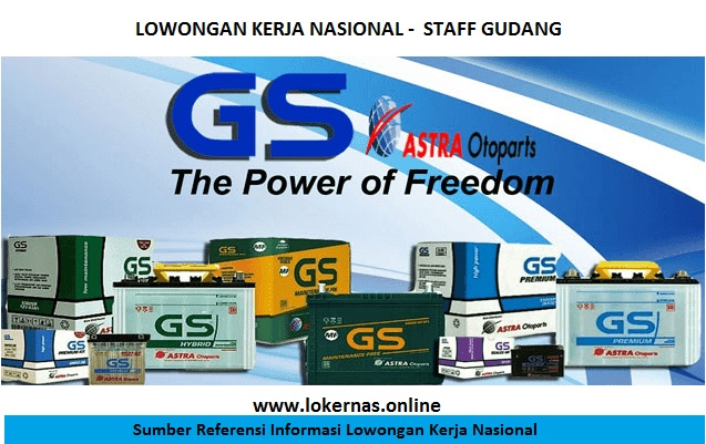 Lowongan Kerja PT GS Battery Bagian Staff Gudang (Lulusan SMA/SMK/Setara)