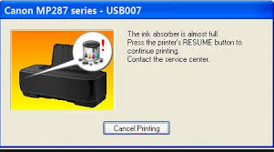 Cara mengatasi Kode Error 08 Pada Printer Canon IP 2770, MP258, MP