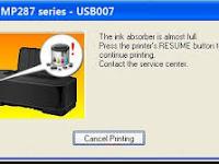 Cara mengatasi Kode Error 08 Pada Printer Canon IP 2770, MP258, MP 287