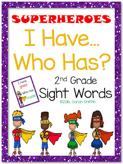 https://www.teacherspayteachers.com/Product/I-Have-Who-Has-2nd-Grade-Sight-Word-Game-Superheroes-2540389
