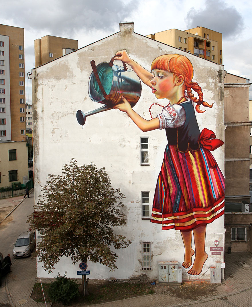These 30+ Street Art Images Testify Uncomfortable Truths - Don't Forget To Water The Plants