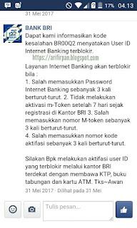 Penyebab dan cara mengaktifkan kembali internet banking terblokir