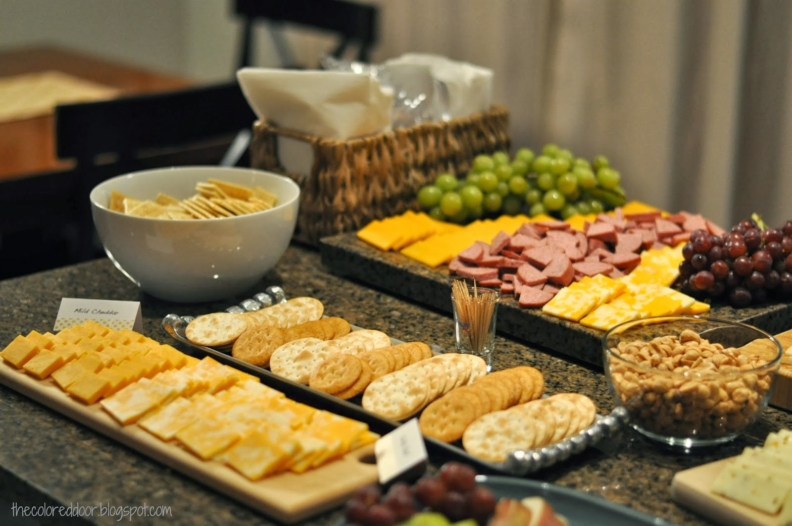 the colored door: Wine and Cheese Party