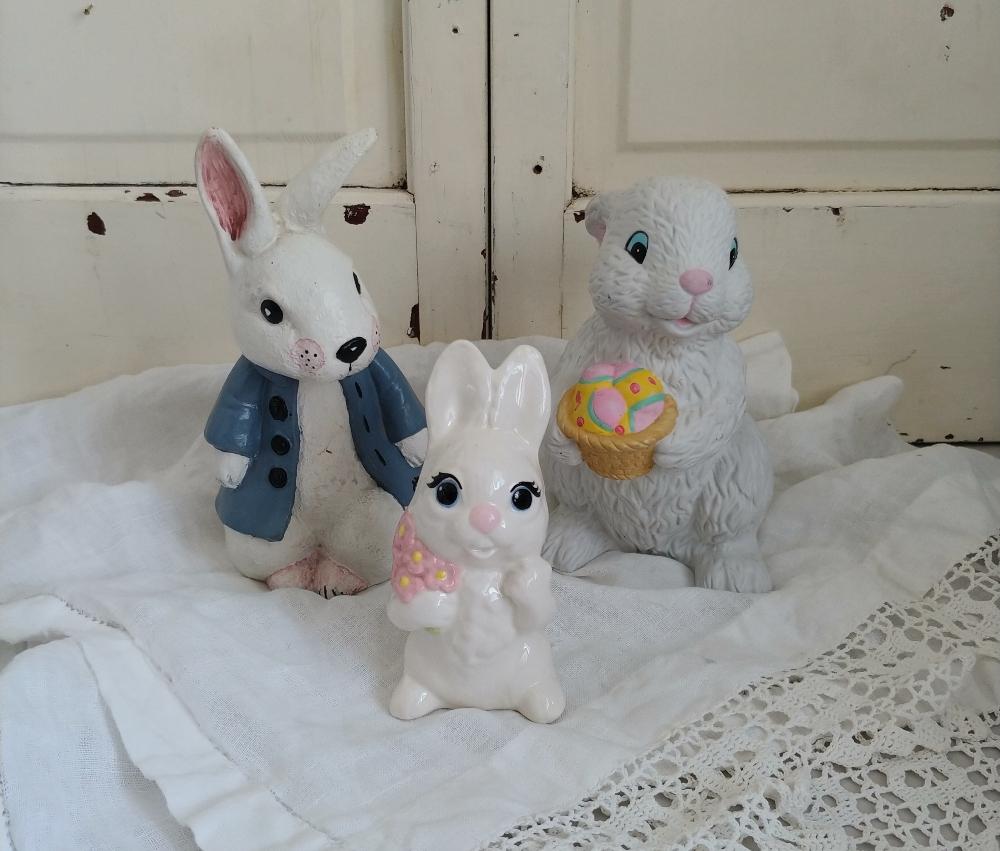 ceramic Easter bunnies