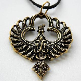 кулон птица феникс купить в интернет магазине бронзовые сувениры оптом