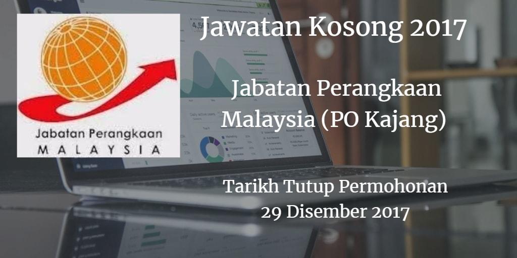 Jawatan Kosong Jabatan Perangkaan Malaysia (PO Kajang)  29 Disember 2017