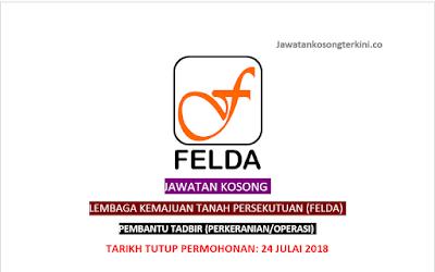 Jawatan Kosong Lembaga Kemajuan Tanah Persekutuan (FELDA) 2018