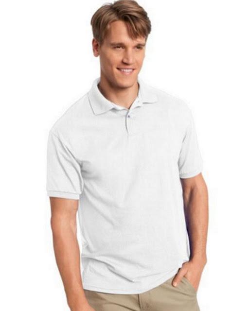 Hanes 054X Mens Comfortblend Jersey Polo -White – M