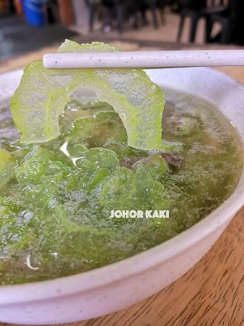 Bitter Gourd Soup @ Kah Kah Loke Restaurant in Taman Johor Jaya, Johor Bahru.