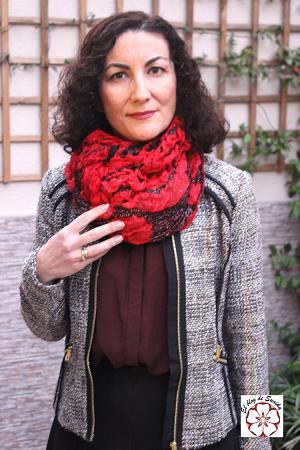 bufanda rosas