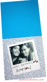 3rd monthsary letter