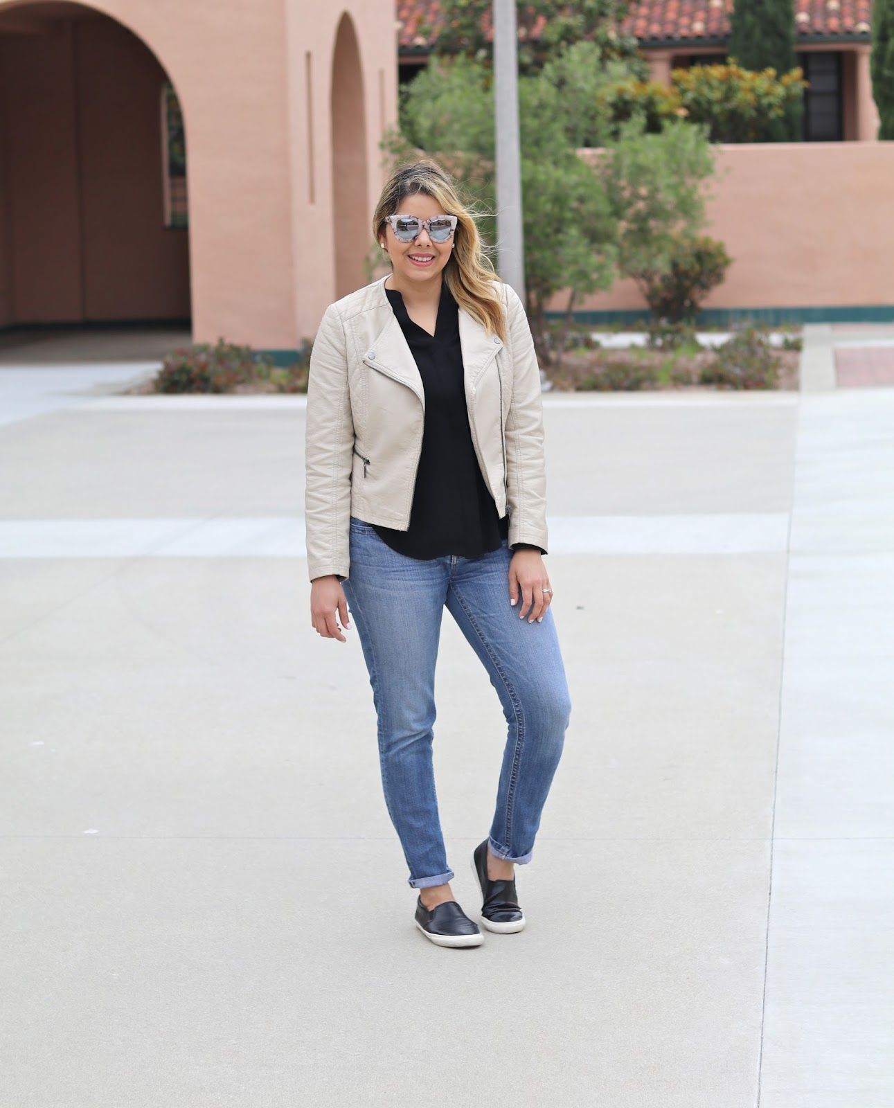 Moto Jacket Casual, San Diego style blogger, san diego fashion blogger, off duty style