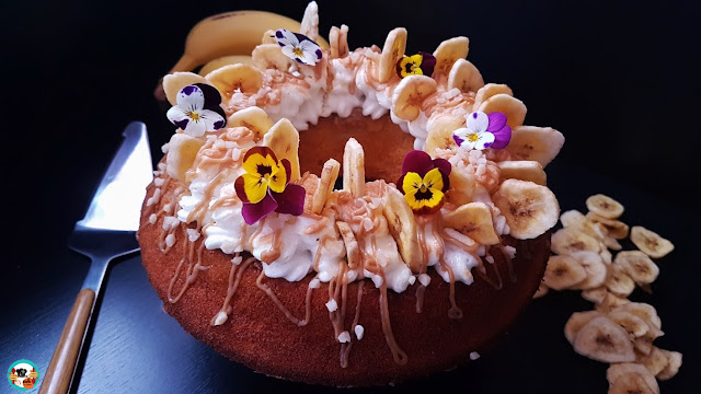 Bundt cake de plátano y caramelo