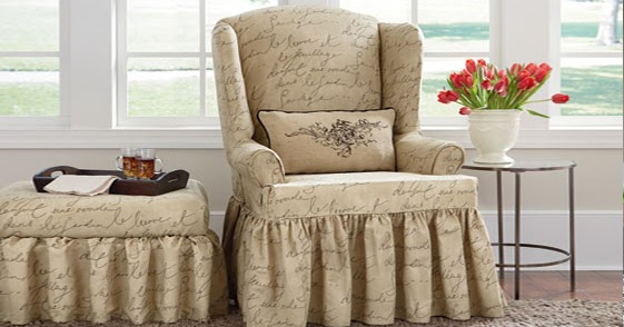sure fit wing chair slipcover small side for bedroom slipcovers: new arrival! pen pal, waverly™ by design