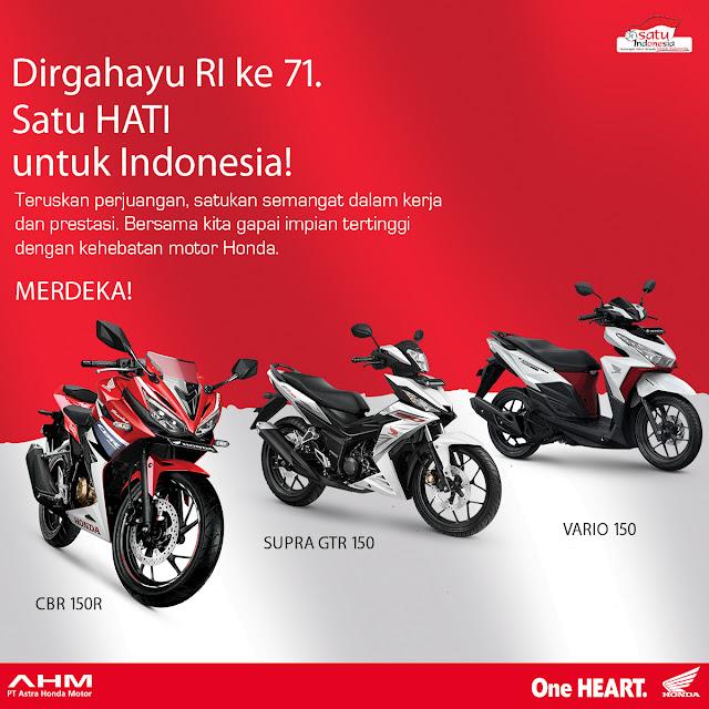 Promo 17 Agustus Kemerdekaan Honda Nagamas Motor Klaten