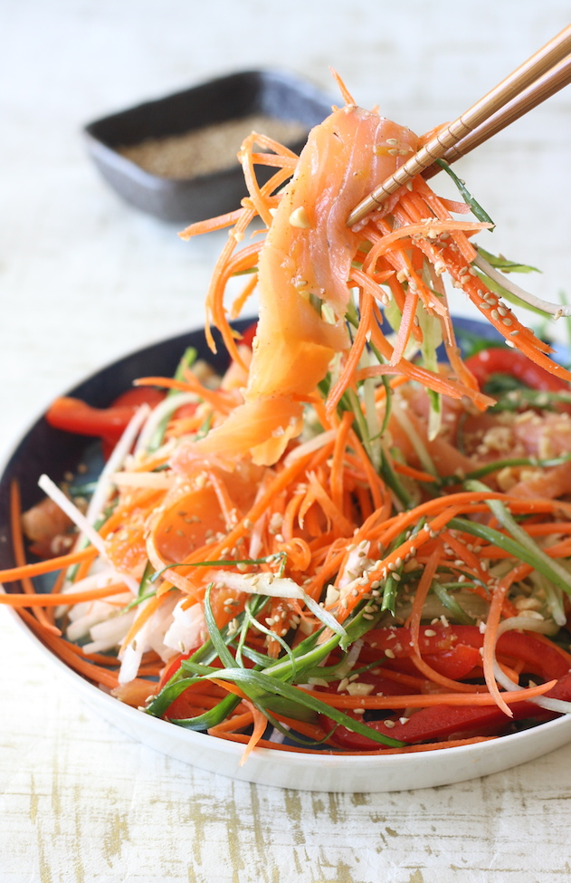 Chinese New Year Prosperity Salad (Yee Sang) by SeasonWithSpice.com