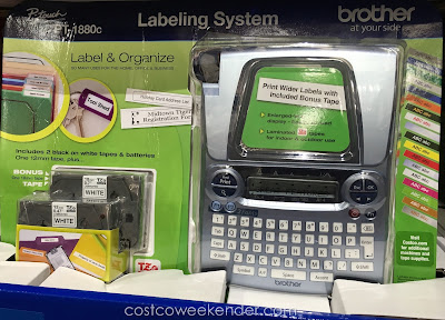 Make labels for everyday use with the Brother P-touch PT-1880c Labelmaker