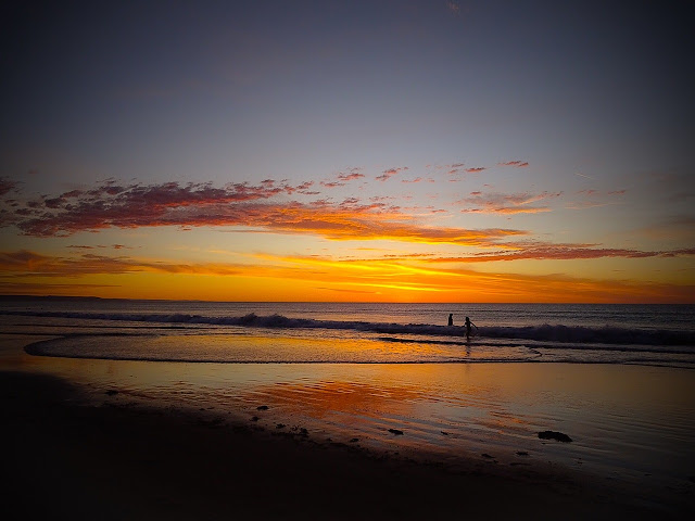 Tramonto su Glenelg Beach