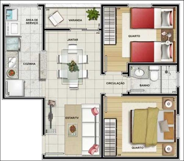 casa grande 2 quartos
