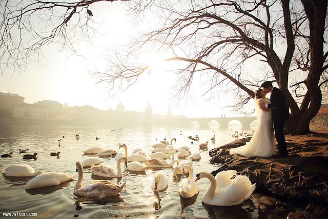 prague wedding shoot