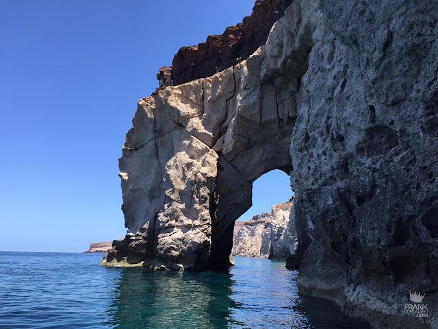 arco natural en isla espiritu santo
