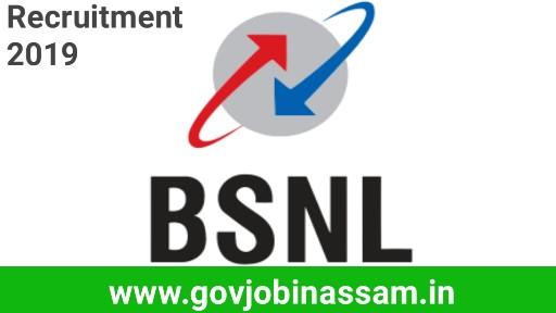 BSNL Recruitment 2018, govjobinassam