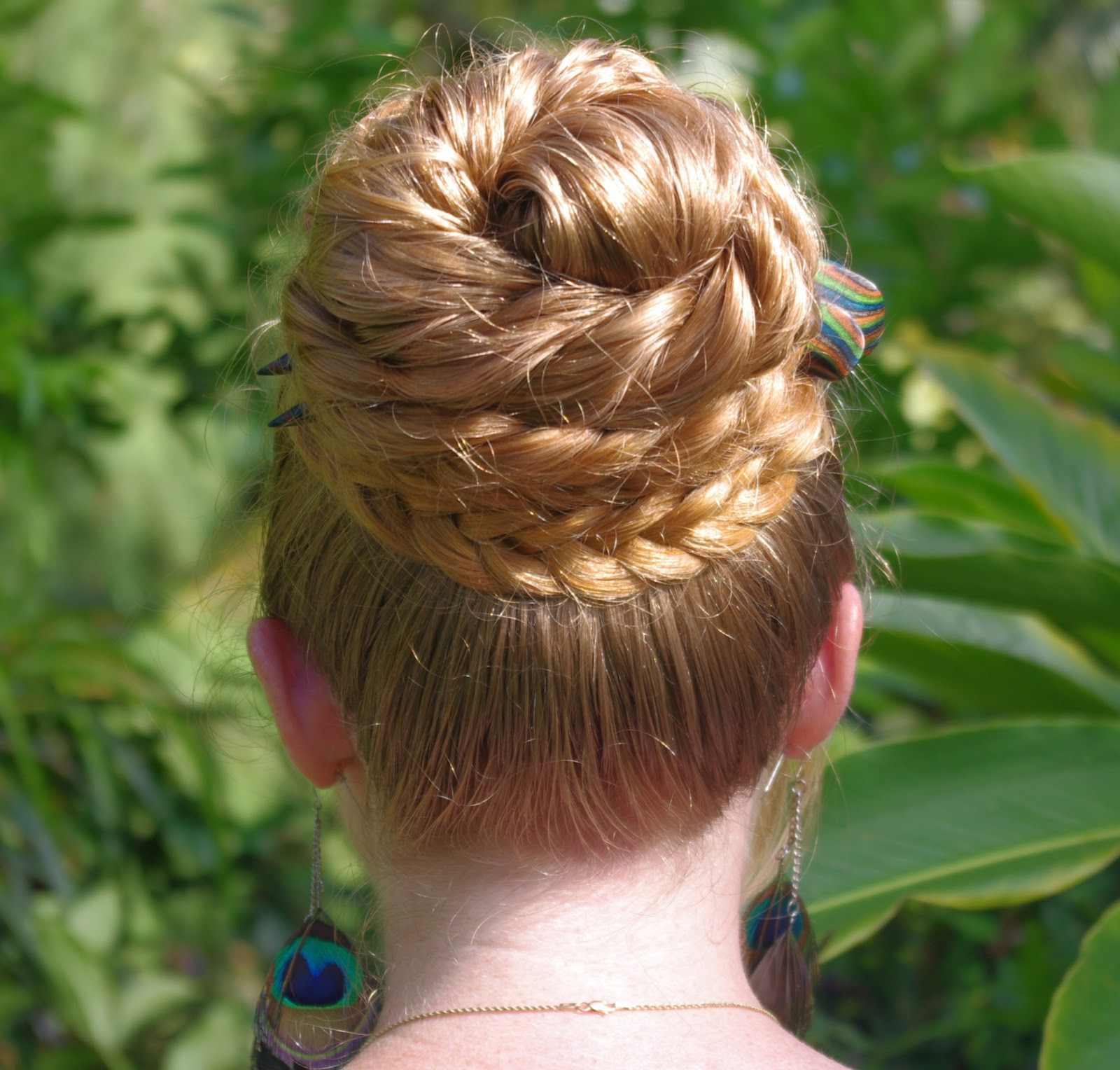 Braids & Hairstyles for Super Long Hair: Bohemian Herringbone Braid Bun