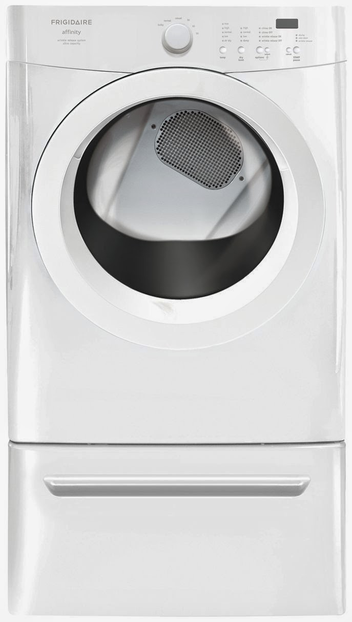 70 cf classic white frigidaire stackable washer dryer