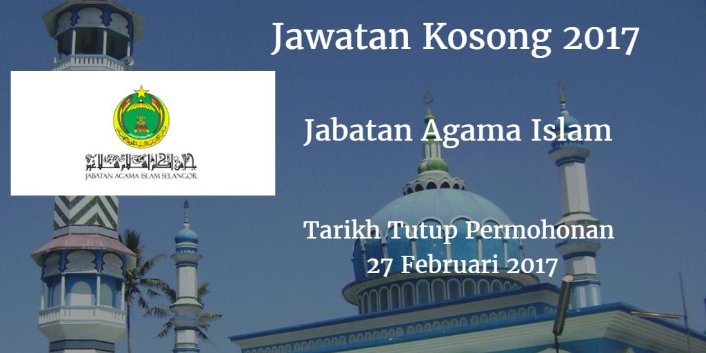 Jawatan Kosong JAIS 27 Februari 2017