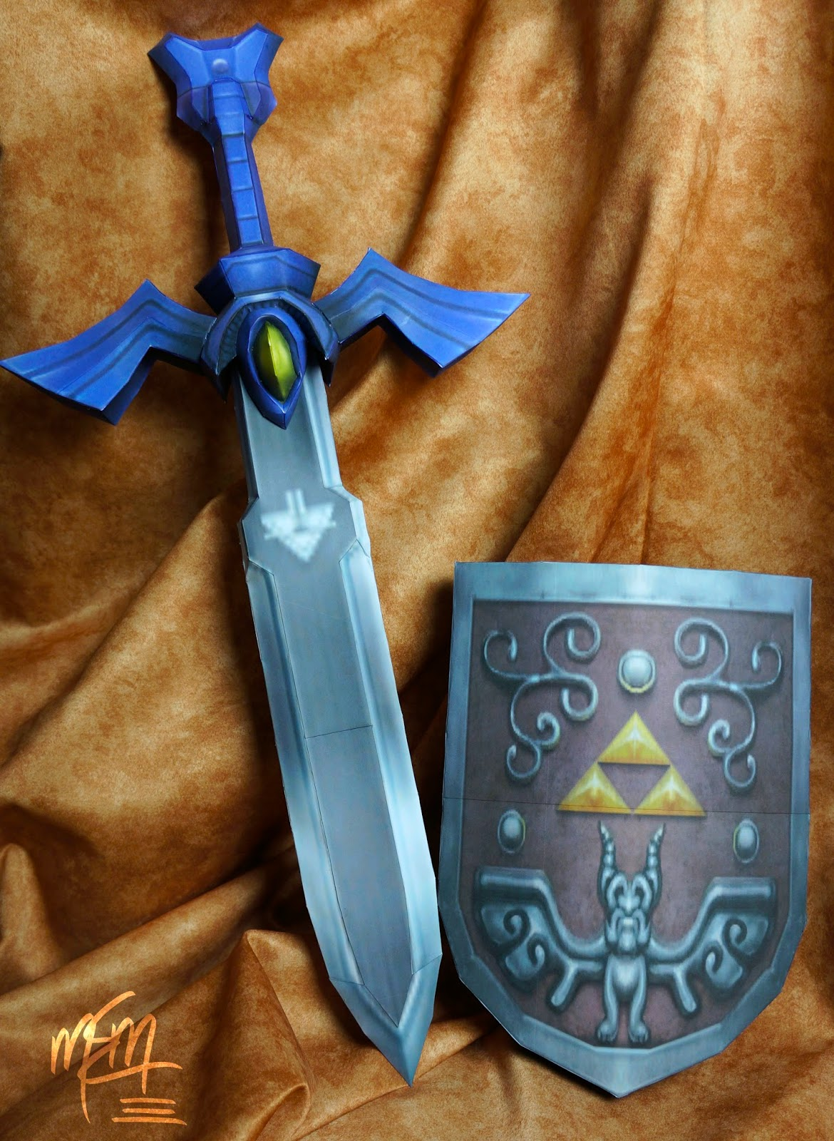 Wind Waker Master Sword and Shield Paper Models
