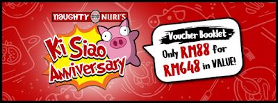 Naughty Nuri's Anniversary Voucher Booklet Discount Promo