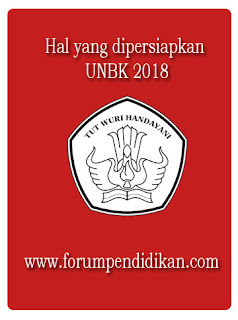 Hal yang dipersiapkan UNBK 2018