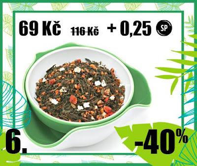 """50 g """"Jahodová Genmaicha"""" - aromat. zelený čaj"""
