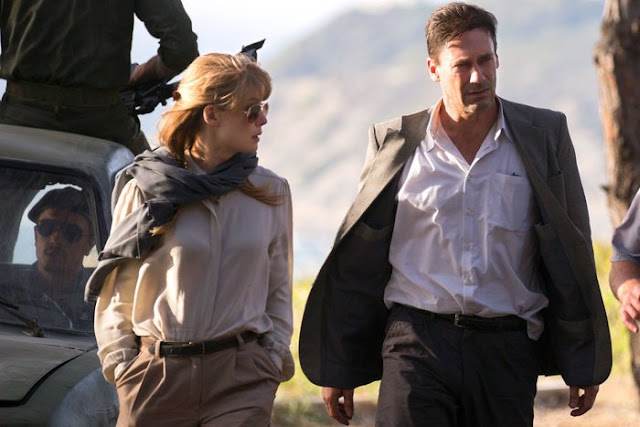 "Rosamund Pike and Jon Hamm in the spy thriller ""Beirut"""