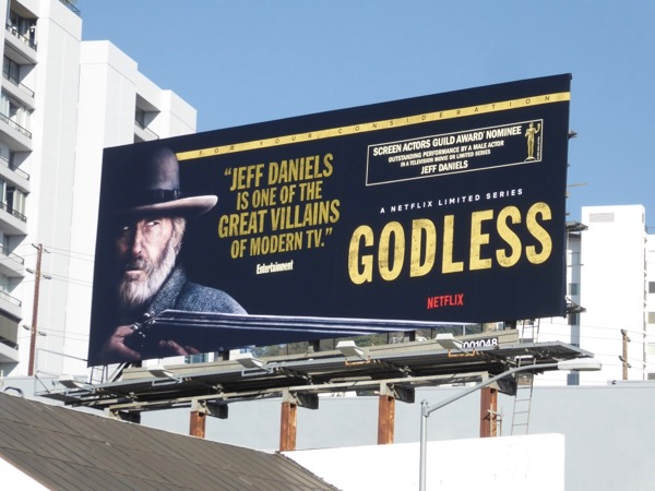 Jeff Daniels Godless SAG Award billboard