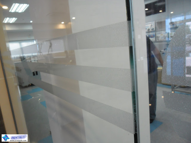 Frosted Glass Stickers - Stripes