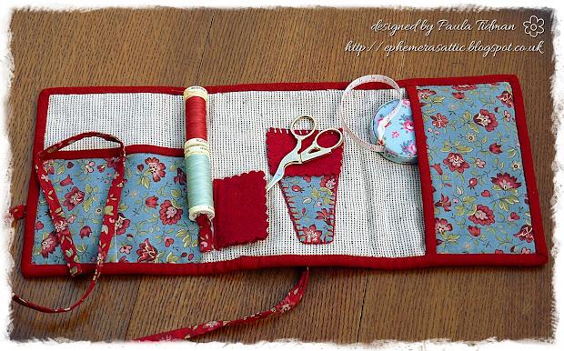 Ephemera' Attic Patchwork Travel Sewing Kit