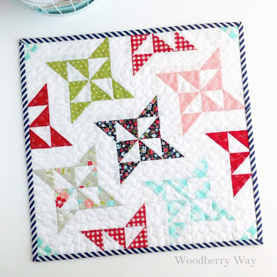 http://www.woodberryway.com/2016/05/arabesque-mini-quilt-pattern.html