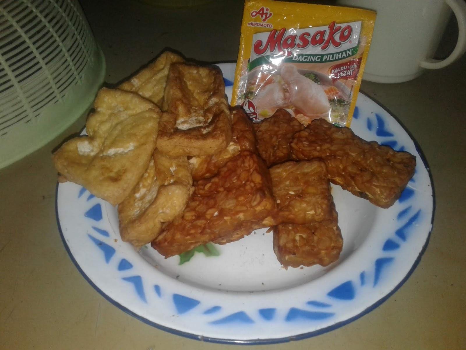 Masako tempe dan tahu goreng