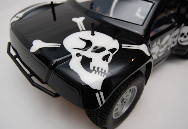 Team Associated SC10 skull paint