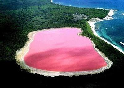 El Lago Rosa, Lago Hillier, Australia