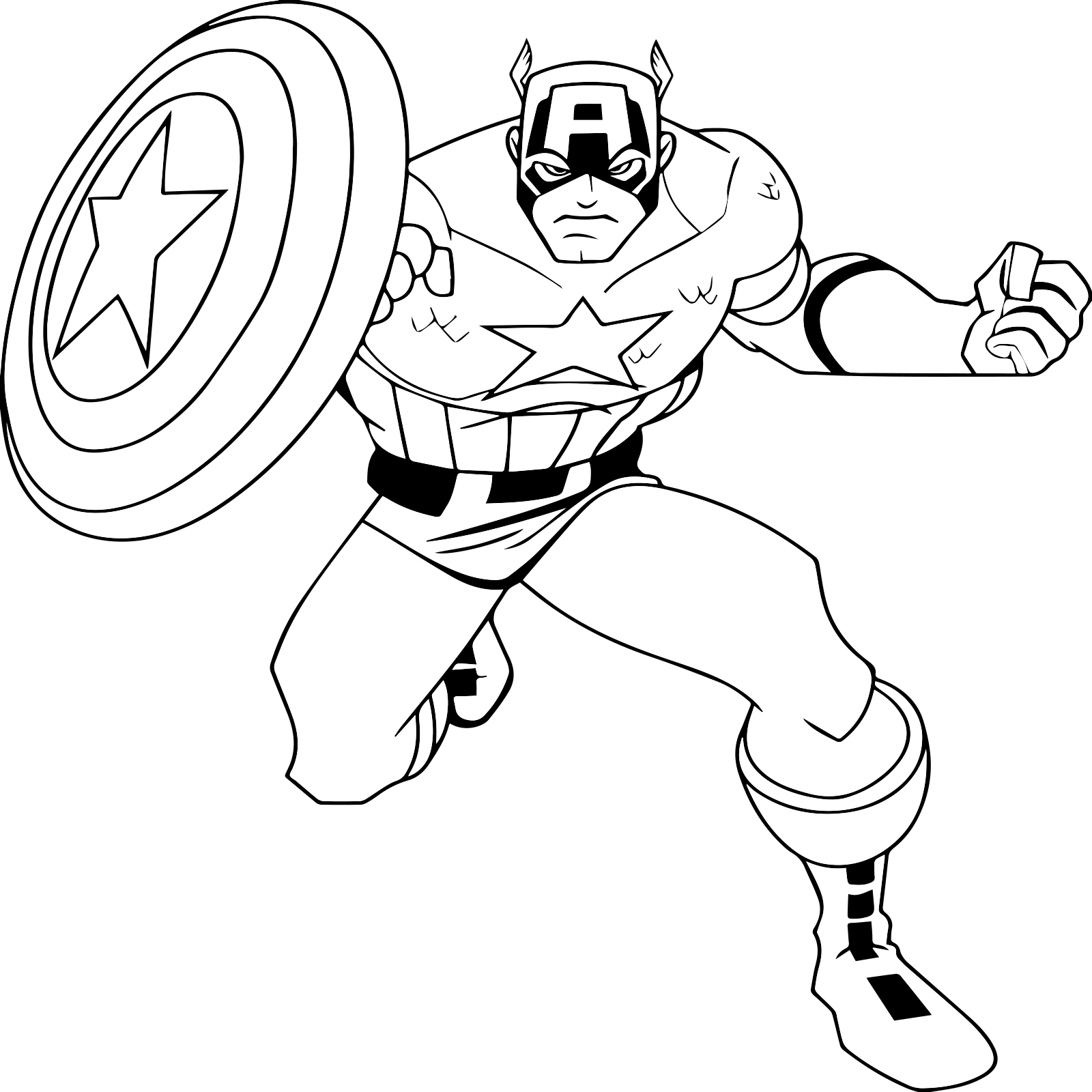 free videos for kids: Free Online Captain America Coloring ...