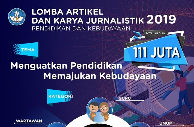 Pengumuman Lomba Foto, Artikel, dan Karya Jurnalistik Kemdikbud 2019