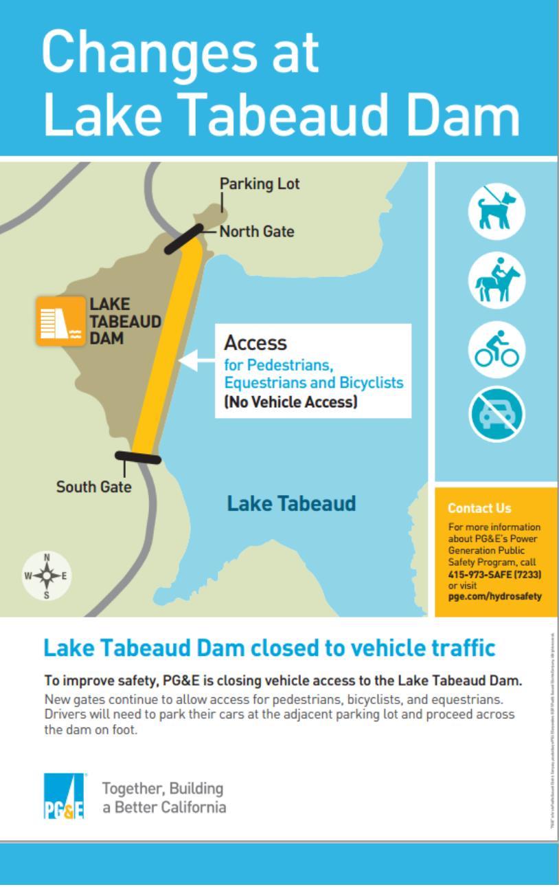 lake tabeaud road closure map