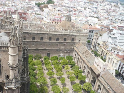 vista del patio della Cattedrale Siviglia