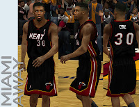 NBA 2K13 Miami Heat Away 'HEAT' logo