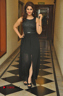 Actress Surabhi Stills in Black Long Dress at turodu Audio Launch  0078.JPG